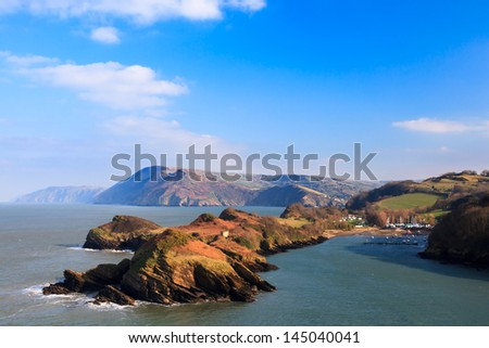 Stunning coastal scenery overlooking Watermouth Cove North Devon England UK