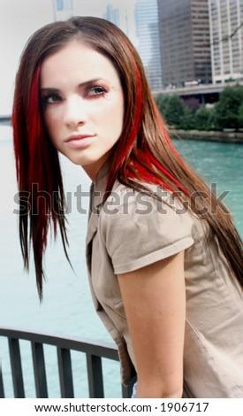 stunning girl - stock photo