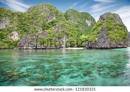 Stunning landscape in El Nido, Palawan, Philippines - stock photo