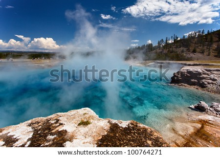 Stunning scene in Yellowstone NP - stock photo