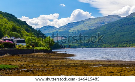 Stunning scenery at Loch Long Argyll and Bute Scotland