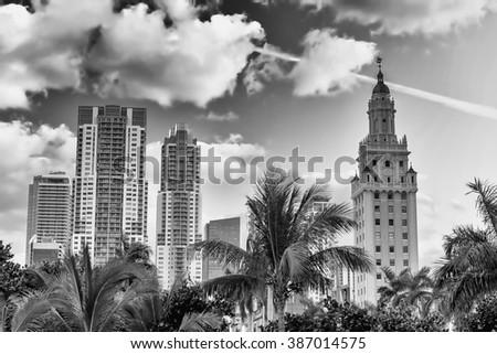 Stunning skyline of Miami, Florida. - stock photo