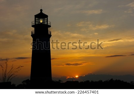 Stunning Sunset at Sankaty Lighthouse. Nantucket, MA