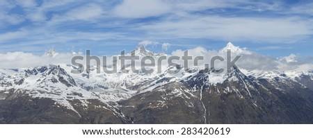 Stunning Swiss Alps - stock photo