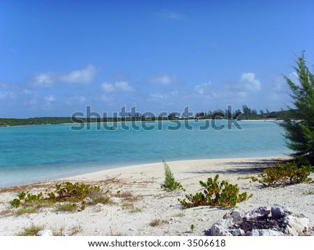 Stunning Tropical Beach Camp - stock photo