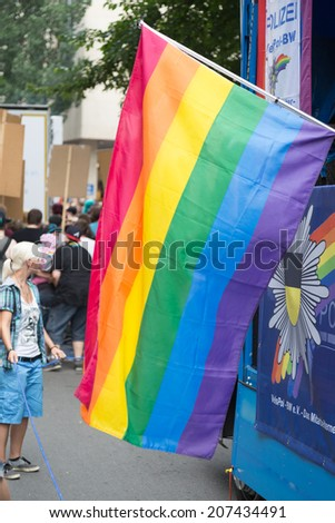 STUTTGART, GERMANY - JULY 26, 2014: Christopher Street Day in Stuttgart, Germany