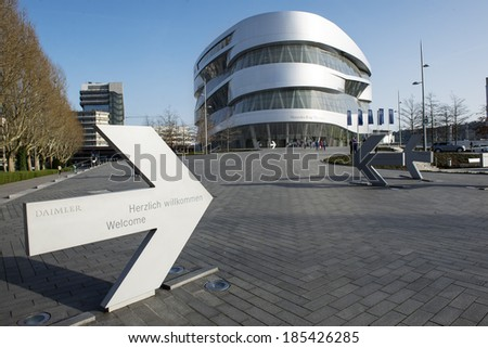 "STUTTGART, GERMANY - MARCH 30, 2014: Museum ""Mercedes-Benz Welt"""