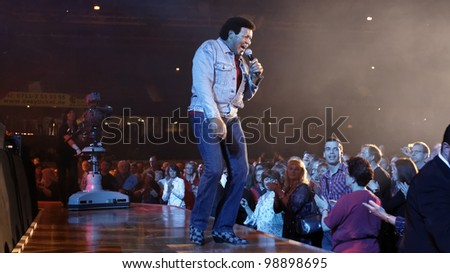 STUTTGART, GERMANY - MARCH 24: Singer Chubby Checke live in concert on stage at the festival March 24, 2012 in Stuttgart, Germany