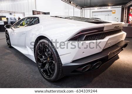 STUTTGART, GERMANY   MARCH 03, 2017: Sports Car Lamborghini Huracan LP 610