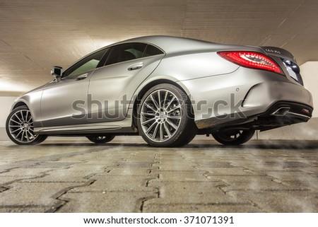 Stuttgart, Germany - May 26, 2015: Mercedes-Benz CLS-class - stock photo