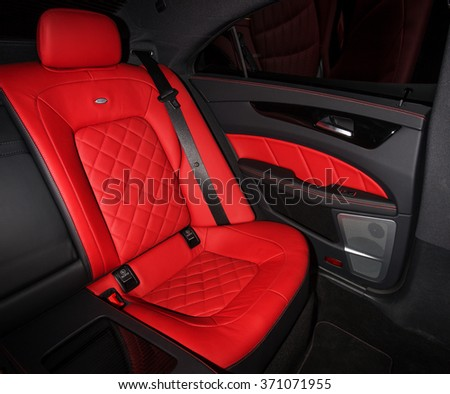 Stuttgart, Germany - May 26, 2015: Mercedes-Benz CLS-class interior. - stock photo