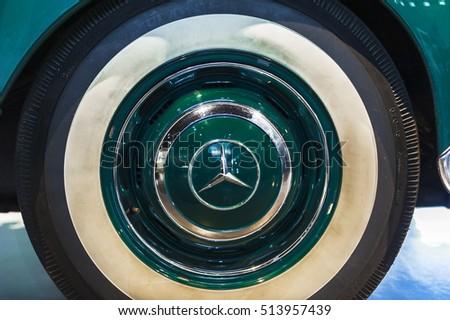 car wheel in mercedes museum