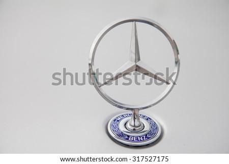 STUTTGART, GERMANY - 11 september, 2015: Mercedes Benz logo. Mercedes-Benz is a German automobile manufacturer, a multinational division of the German manufacturer Daimler AG