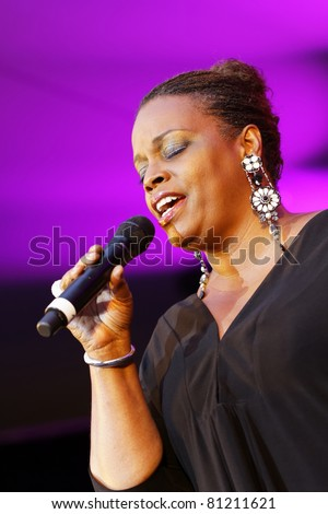 STUTTGART - JULY 08:Dianne Reeves concert at Jazzopen Stuttgart July 08, 2011 in Stuttgart, Germany - stock photo