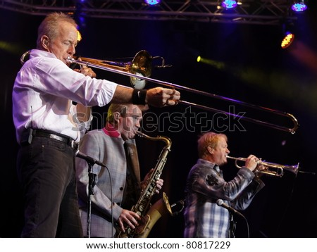 "STUTTGART - JULY 02: Group ""Chicago"" in concert at Jazzopen Stuttgart July 02, 2011 in Stuttgart, Germany. - stock photo"
