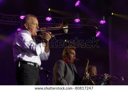 "STUTTGART - JULY 02: Group ""Chicago"" in concert at Jazzopen Stuttgart July 02, 2011 in Stuttgart, Germany. - stock photo"