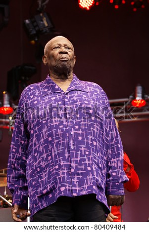 STUTTGART-JULY 01: Legendary blues guitar player B.B. King in concert at Jazzopen Stuttgart July 01, 2011 in Stuttgart, Germany