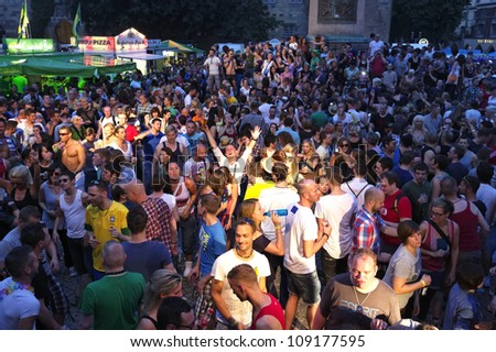 STUTTGART - JULY 30 : People celebrate Christopher Street Day July 30, 2012 in Stuttgart, Germany.