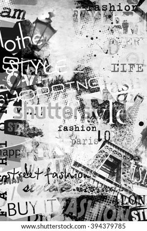 STYLE and FASHION concept. Grunge illustration - stock photo