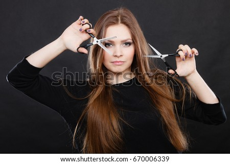 professional hairstylist barber with new idea of look changing long haired - Professional Hairstylist