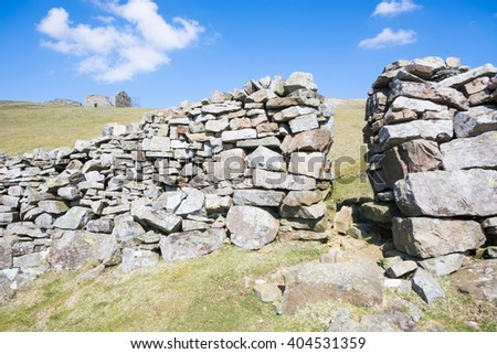 Style in a drystone wall - stock photo