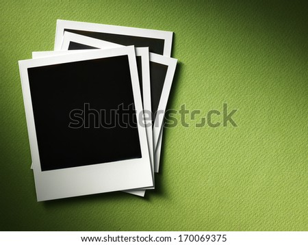 style photo frames on cardboard