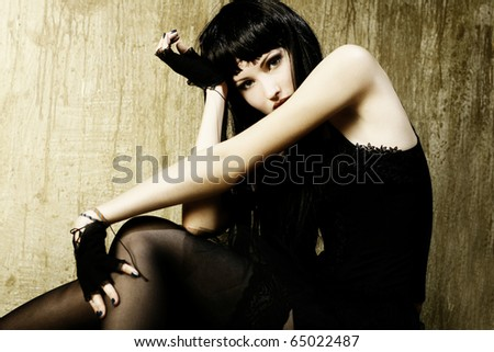 Style photo of a pretty young  woman - stock photo