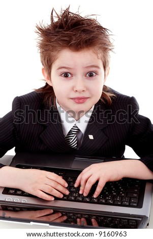Styled  boy with his computer.