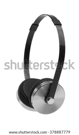 Styled with Black & Silver Metal Headphones, leather headband , Gadget & Accessories
