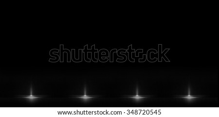 Stylish abstract element on a black background with the effect of the lens, and the amount of illumination