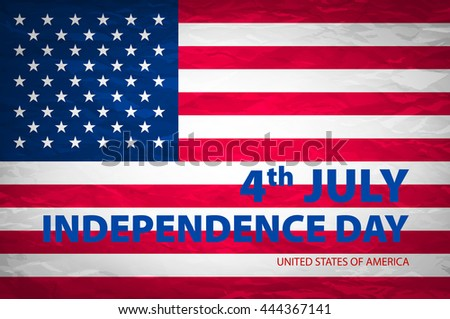 stylish american independence day design art