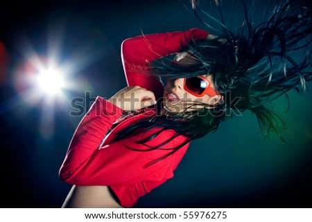 Stylish and cool looking dancer girl. - stock photo