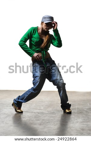 stylish and young modern style dancer is posing - stock photo