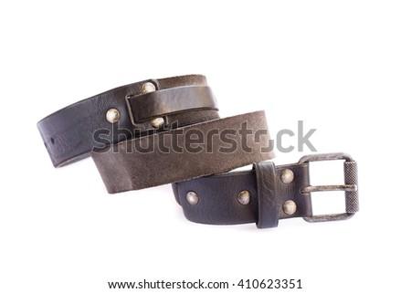 Stylish belt isolated on white background. - stock photo
