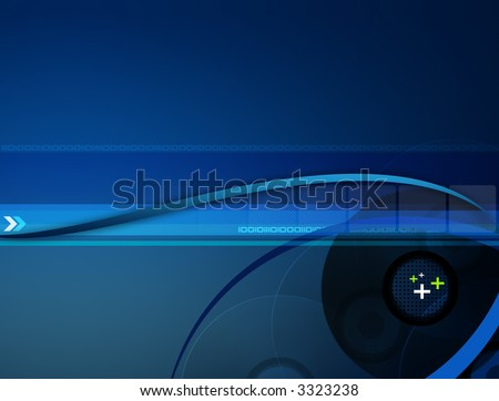 Stylish blue gradient background with different elements. - stock photo