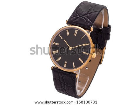 Stylish branded watch, luxury and style accessories. - stock photo