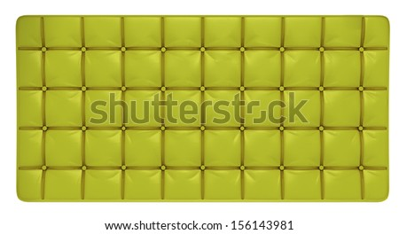 stylish buttoned green leather pattern  - stock photo