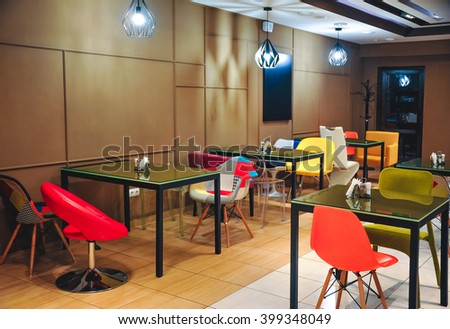 Stylish cafe interior