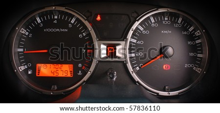 Stylish Car Dashboard - stock photo