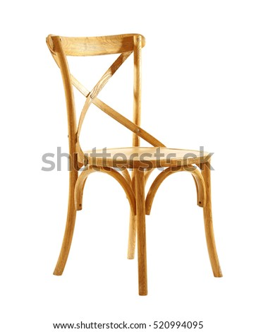 Stylish chair, isolated on white