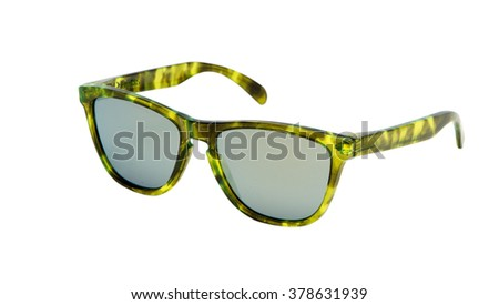 Stylish & Classic Cat-eye frame Sunglasses with Emerald green lens  Men & Woman Accessories  - stock photo