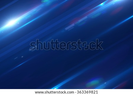 Stylish dark-blue background with particles and glow - stock photo