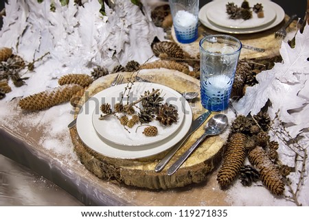 stylish decoration for party table - stock photo