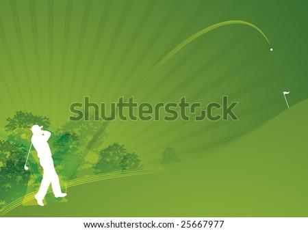 Stylish dynamic golf swing01 - stock photo