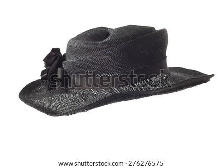 stylish fashion elegant retro hat isolated on white background - stock photo