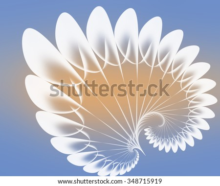 Stylish fractal pattern in the form of a conventional spiral. To design postcards, banners, brochures, creative projects.