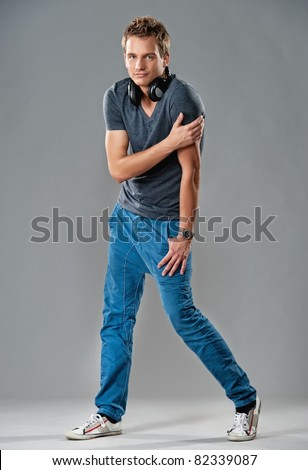 Stylish handsome young man. - stock photo