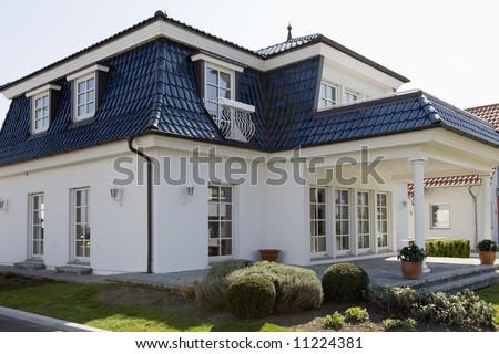 stylish house - stock photo