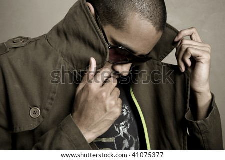 Stylish indian male model - stock photo