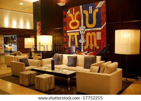 stylish interior design - stock photo